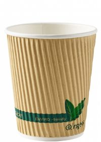 8oz compostable ripple cup